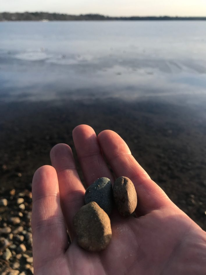three stones in hand